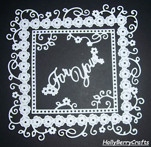 """Romance Die Cut Toppers ~ /""""Para ti/"""" de enganche Tattered Lace Amor"""
