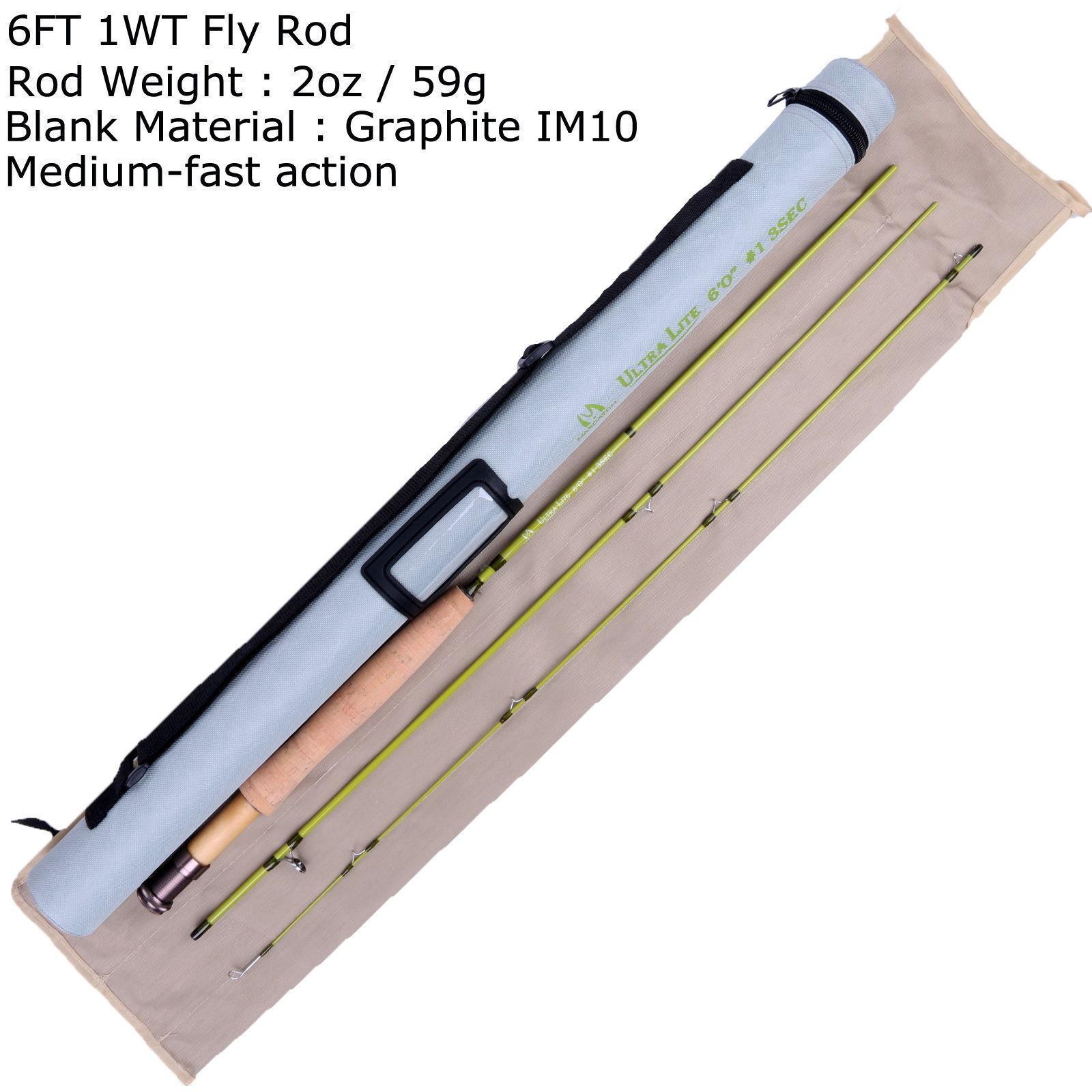 Maxcatch canne pêche à la mouche 6'/6'6/7' 4 morceaux morceaux morceaux ultra léger rapide f228f9