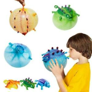 Dinosaur-Blow-Up-Inflatable-Balloon-Ball-Funny-Bouncing-Stress-NEW-Toy-O5H8