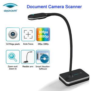 VH800AF-Foldable-Multi-Dimensional-AF-Auto-Focus-5MP-A4-Document-Camera-Scanner