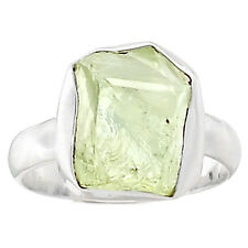 Green Amethyst Rough 925 Sterling Silver Ring Jewelry s.8.5 GARR51