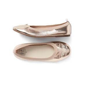 Gap Kids Rose Gold Kitten Ballet Flats Shoes Nwt 4 N5 Nnn Ebay