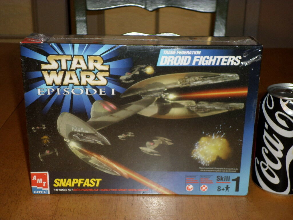 STAR WARS EPISODE 1 TRADE FEDERATION DROID FIGHTERS, SNAPFAST Model , Scale 1 48