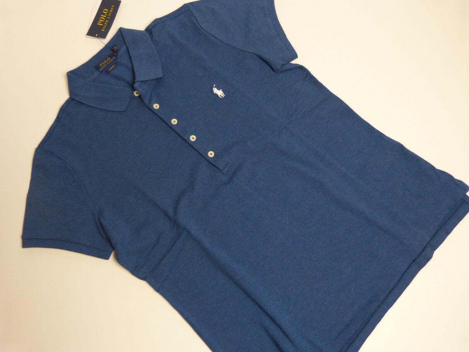 POLO Ralph Lauren Poloshirt Gr.L slim fit blau - Damen