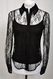 CARLISLE-LACE-DRESSY-FORMAL-2-pc-BLOUSE-WITH-CAMI-sizes-8-10-NEW-495