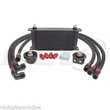 REV9 UNIVERSAL19 ROW OIL COOLER BAR & PLATE CORE W/ OIL FILTER RELOCATION KIT