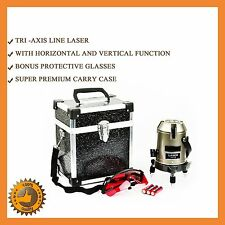 SELF LEVELLING ROTARY ROTATING LASER LEVEL BEAM CROSS LINE TRI-AXIS WITH CASE
