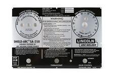 Lincoln Sa 250 Perkins 3152 Faceplatenameplate Bw661