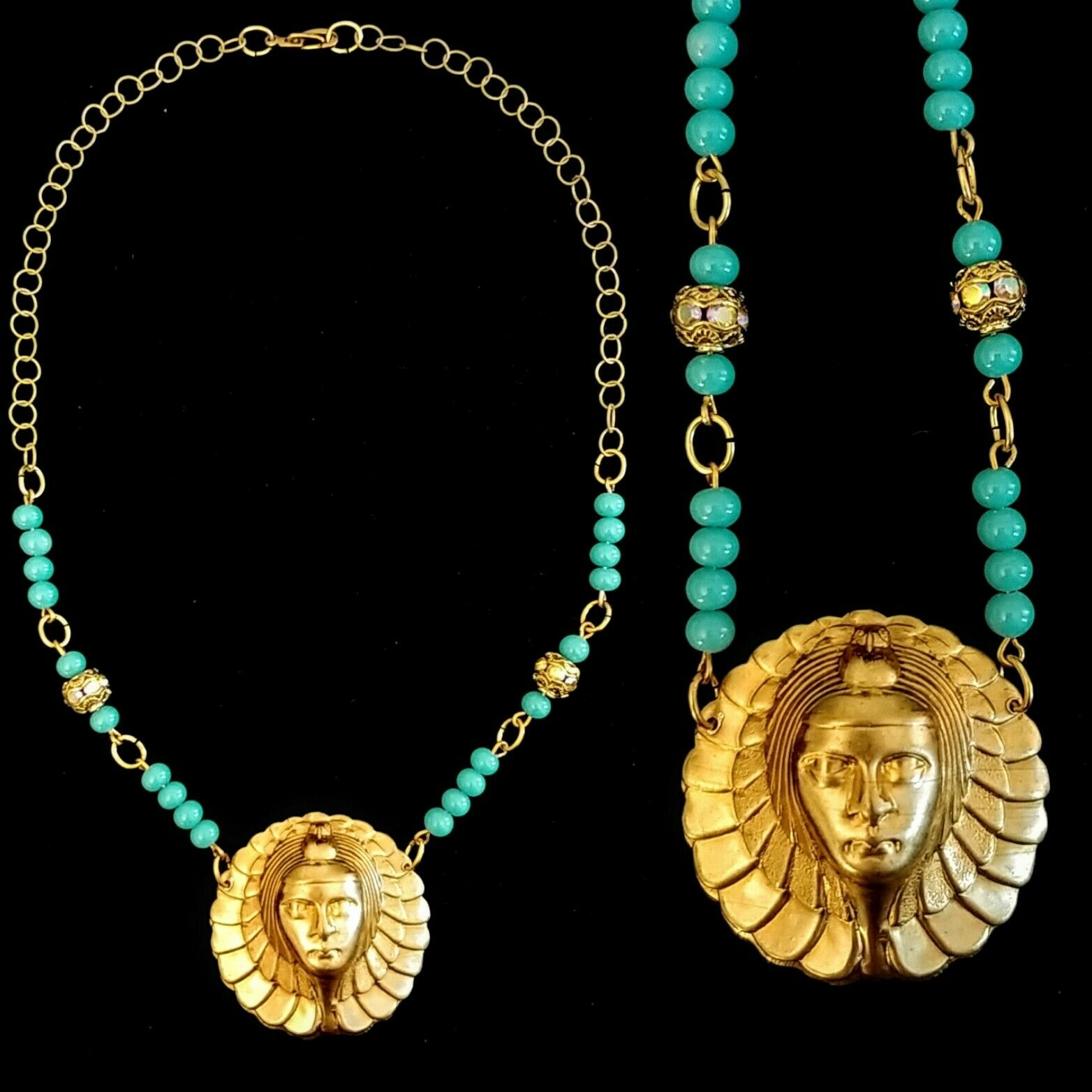 Vintage Egyptian Revival Necklace - image 1