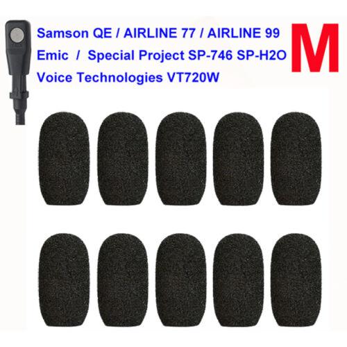 10packs Emic Samson QE Airline 77 99 SP-746 Mic Foam Windscreen Windshield Muffs