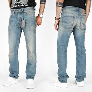 DIESEL-Da-Uomo-Regular-Slim-Tapered-Fit-Dirty-Look-Jeans-Buster-084ZI-RRP-280
