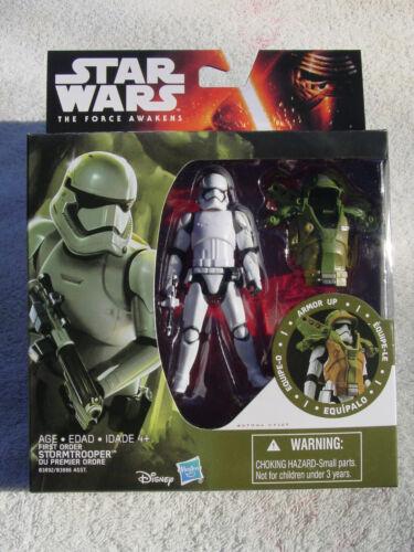 Armor Up de premier ordre Stormtrooper Fig Comme neuf en colis! Star Wars The Force Réveille 3.75 IN environ 9.52 cm