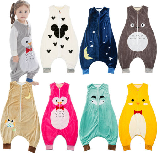 Animal Sleeping Bags  Soft New Baby Kids Boys and  Girls With Feet AGE 1-7 years