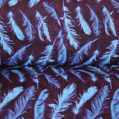 Feathers,Cotton Fabric,DIY Decorating,Free Spirit PWNW 082,Sewing,Quilting,