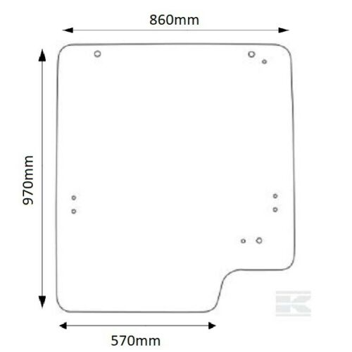 JCB 525 527 530 535 537 540 Series Windscreen Glass Glazing 9 holes