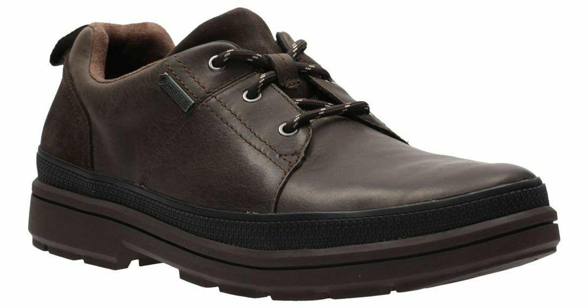 Clarks Rushwaylace Gore-Tex botas Para Hombre De Cuero Marrón Oscuro Talla Reino Unido 7G