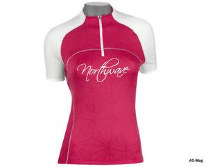 Maillot Vélo Femme - NORTHWAVE 89121046 Divine Jersey Fushia Blanc - T. L - NEUF