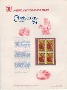 1550-10c-Christmas-Ange-s-USPS-Cat-42-Commemorative-Stamp-Panel