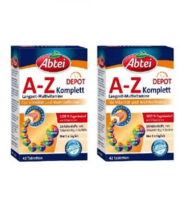 2xpack Abtei A Z Depot Complete Multi Vitamins Minerals Germany