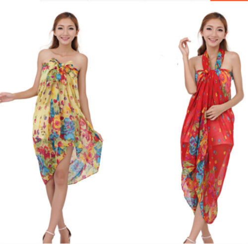 Womens Ladies Printed Cotton Warm Long Scarf Stole Shawl Wrap Soft Voile Scarves