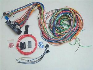 12v 24 circuit 15 fuse street hot rod color wiring harness wire kitimage is loading 12v 24 circuit 15 fuse street hot rod
