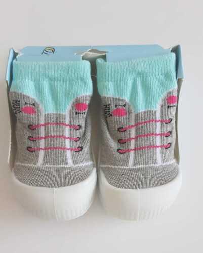 Baby Mädchen Socken Gummisohle Krabbelschuh Hausschuh Größe 20 21 22 23