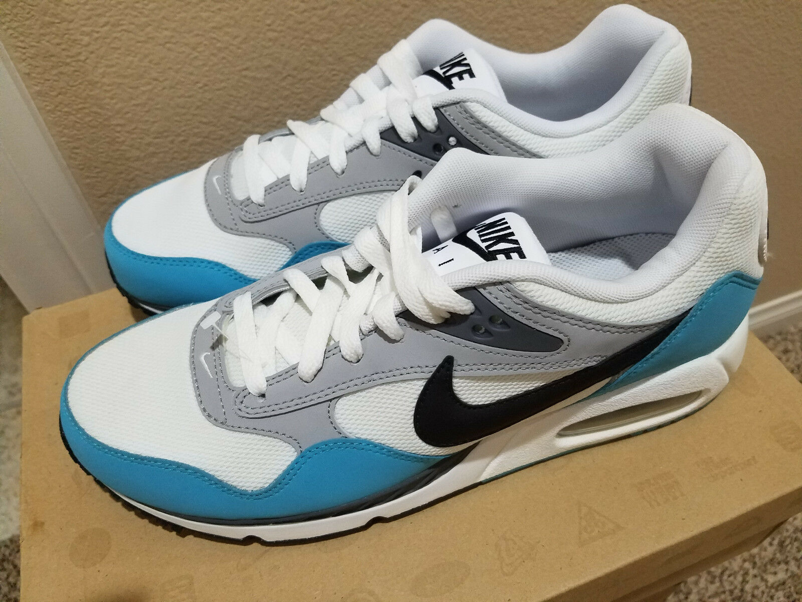 New Nike Air Max Sunrise White Black Turquoise 511417 142 Women's 11 Men's 9.5