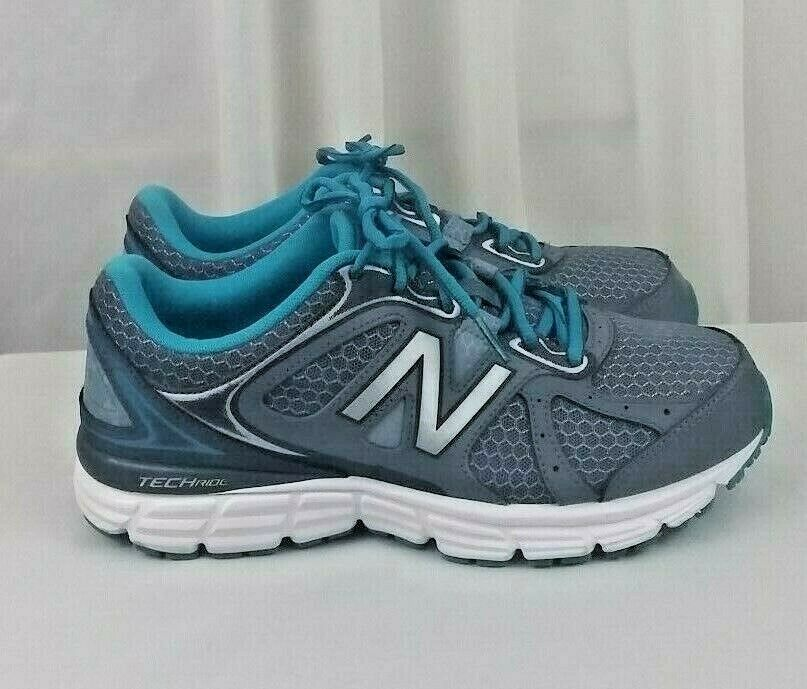 New Balance Tech Ride grey teal running womens shoes SZ 8.5D