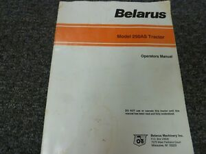Read Online Belarus 250as Tractor Manual