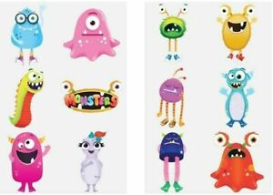 12 Boys Various Tattoos Birthday Party Loot Bag Toy Fillers For Kids