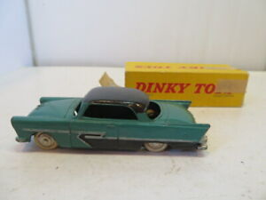 """DINKY TOYS PLYMOUTH """"BELVEDERE"""" 24D MADE IN FRANCE VINTAGE RARE ORIGINAL"""
