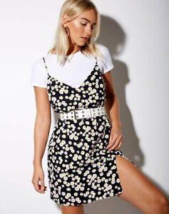 MOTEL-ROCKS-Katya-Dress-in-Mini-Daisy-Black-Small-S-mr69