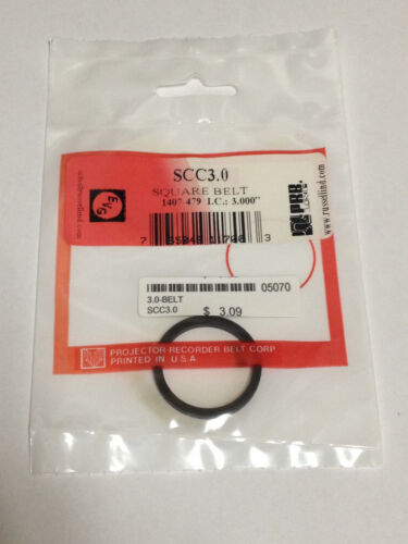 """3.0/"""" IC VCR Replacement Belt Square Cut Rubber SCC3.0 NEW"""