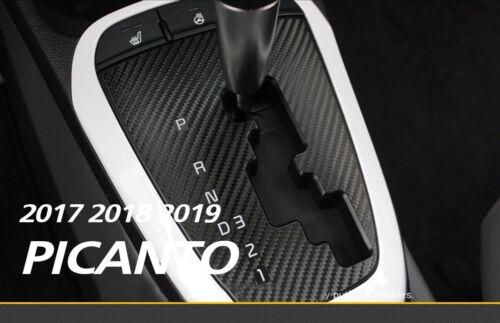 Gear Panel 3M 3D Carbon Sticker in Black for KIA 2017 2018 2019 PICANTO