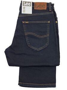 Mens-New-Lee-Brooklyn-Stretch-Denim-Jeans-Regular-Fit-Basic-Straight-Leg-30-44