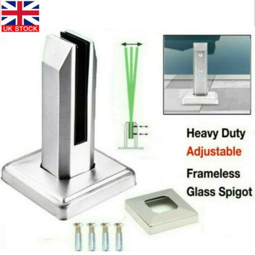 304 Stainless Steel Spigot Glass Clamp Pool Fencing Balustrade Spigots DIY UK