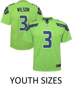 finest selection fa21b 044e9 Details about Russell Wilson Seattle Seahawks Nike Youth Boys Color Rush  Game Jersey - Green