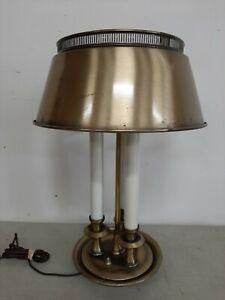 Vintage Mid Century Brass Candlestick 3 Light Table Lamp Bouillotte Metal - #2