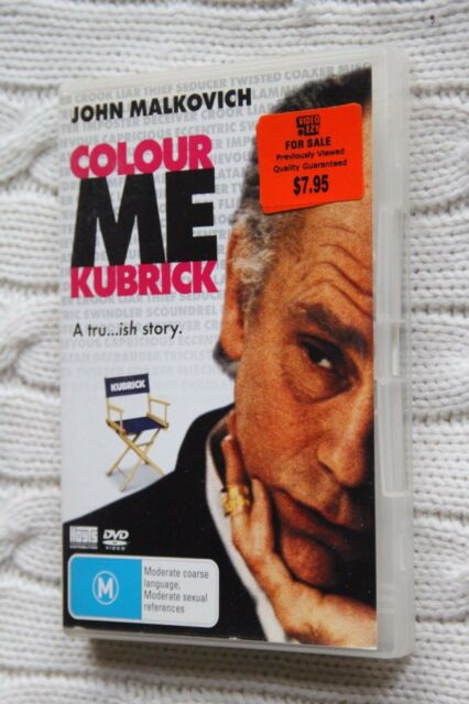 Colour Me Kubrick: A Tru..ish Story (DVD), R-4, Like new, free shipping