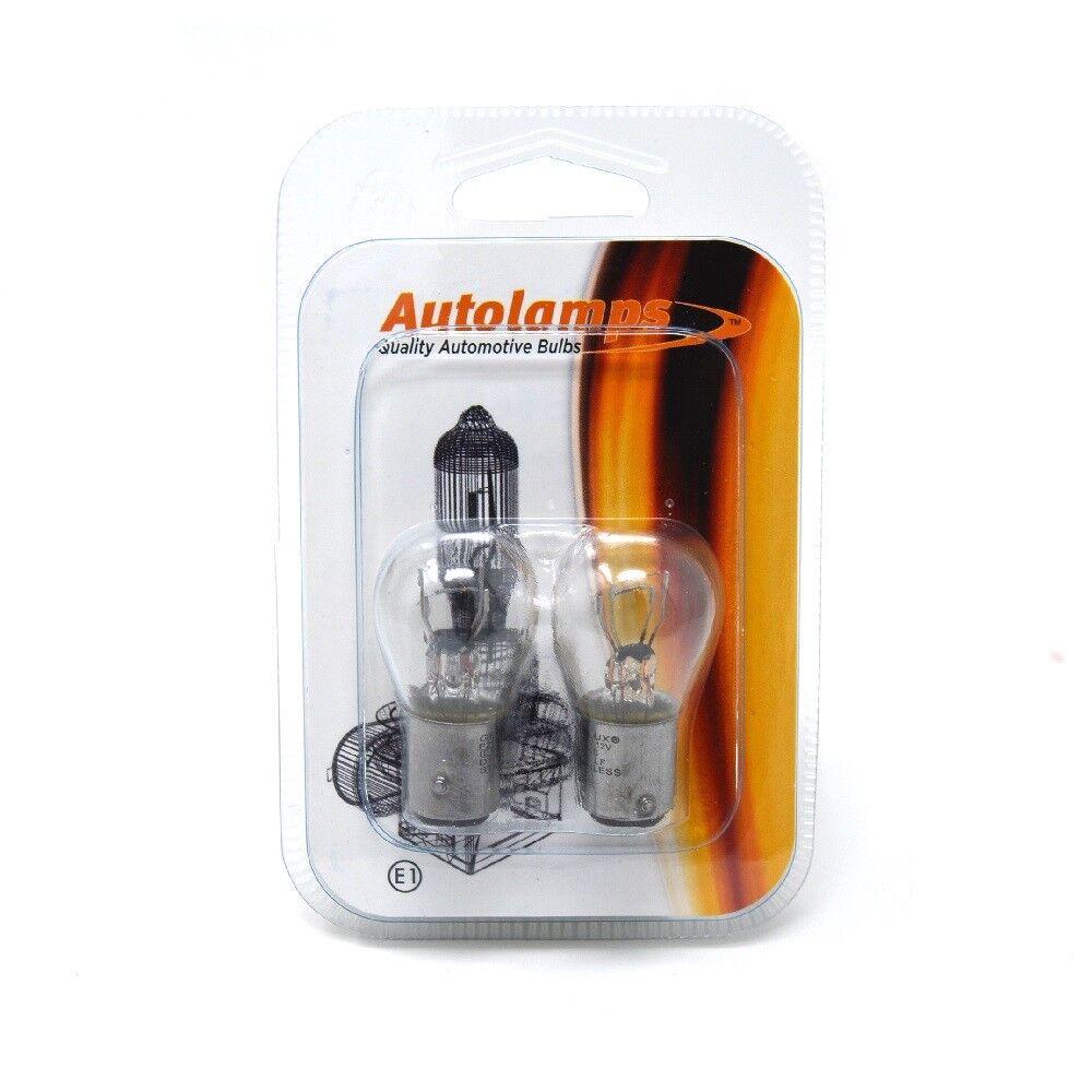 2 x P21//4W 566 12V 21W 4W Car Light Bulbs Tail Brake BAZ15d