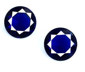 4-35-Ct-Blue-Tanzanite-Loose-Gemstone-Pair-Natural-Round-8-x-8-mm-AGSL-Certified