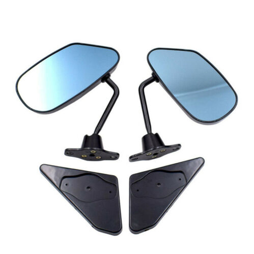 Pair Car Vehicles Racing Side Rear View Mirrors F1 Style Carbon Fiber Look