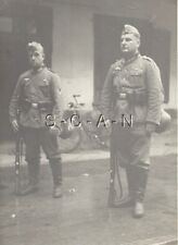 WWII German Large Army RP- Bicycle- NCO- Soldiers with Kit- Rifle- Helmet- Decal