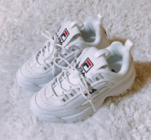 c64661a54 Image is loading FILA-2018SS-DISRUPTOR-II-WHITE-FS1HTA1071X-UNISEX-SHOES-