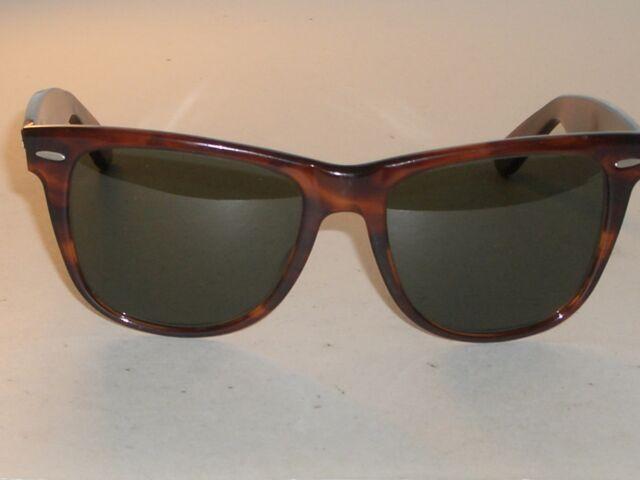 43ea90cde36 Vintage B l Ray Ban Wayfarer II L1725 Mock Tortoise 54mm Sunglasses ...
