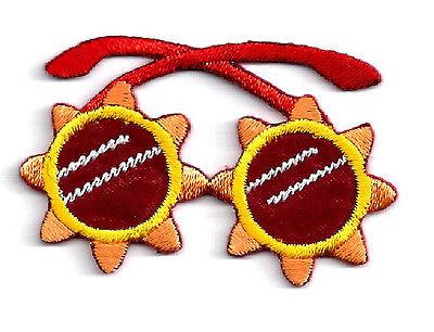 Sunglasses Iron On Patch - Summer, Beach, Sun, Tropical, Fun Craft Embellishment