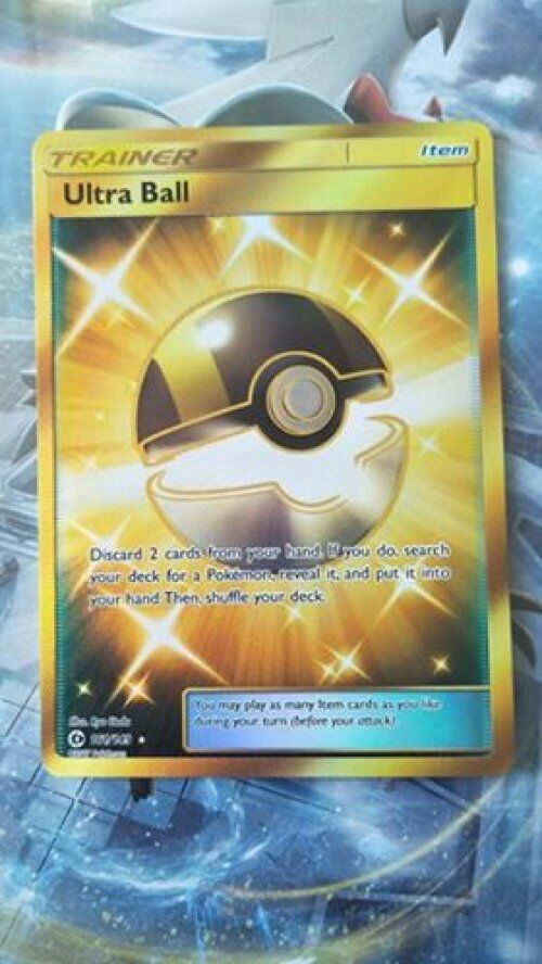 Pokemon Sun & Moon Ultra Ball Secret Rare Trainer Card 161 149