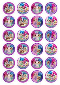 24 Shimmer and Shine Cupcake Fairy Cake Toppers Edible ...