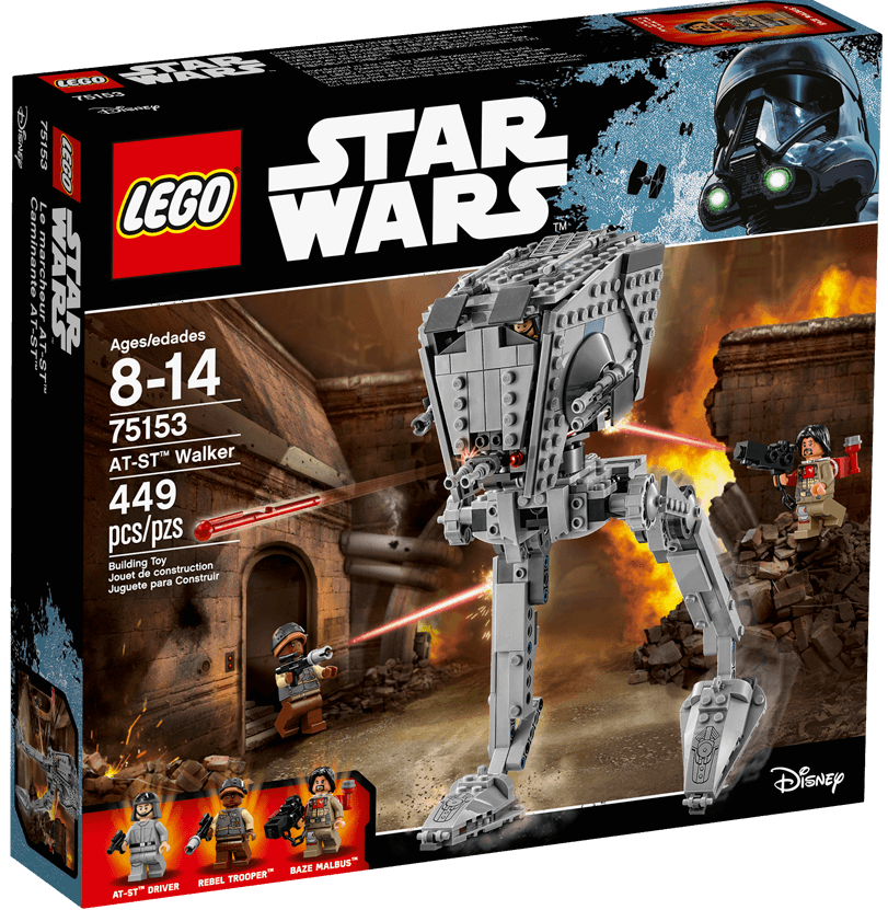 LEGO Star Wars 75153 AT-ST Walker Baze Malbus, NEW SEALED, 2016 Discontinued Set