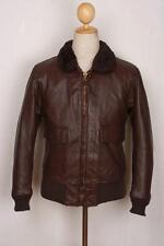 Vtg 1971 Brill Bros G-1 US NAVY Goatskin Flight Leather Jacket Size S/XS
